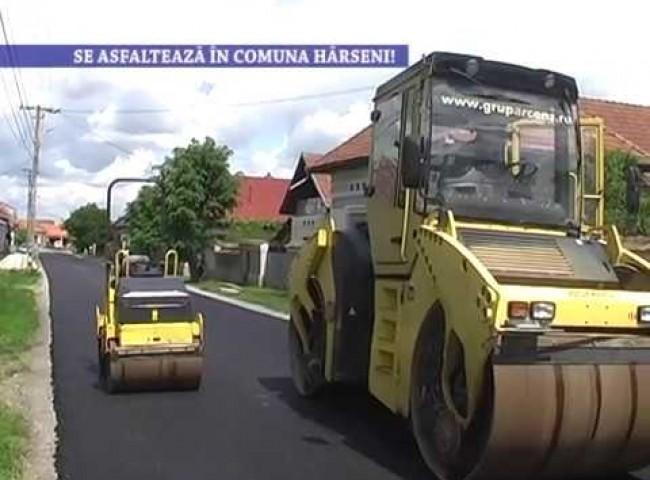 Se asfalteaza in comuna Harseni! – 3 iunie 2020