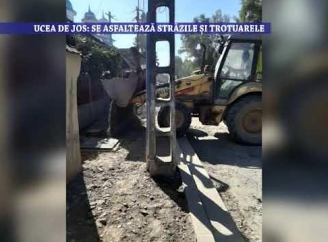 Ucea de Jos: Se asfalteaza strazile si trotuarele – 10 septembrie 2020