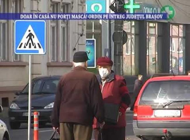 Doar în casă nu porți mască! Ordin pe întreg județul Brașov – 22 octombrie 2020
