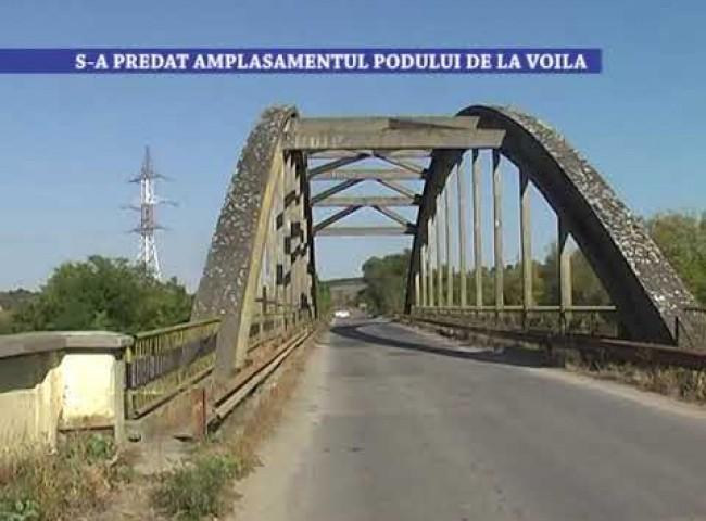 S-a predat amplasamentul podului de la Voila – 27 ianuarie 2021