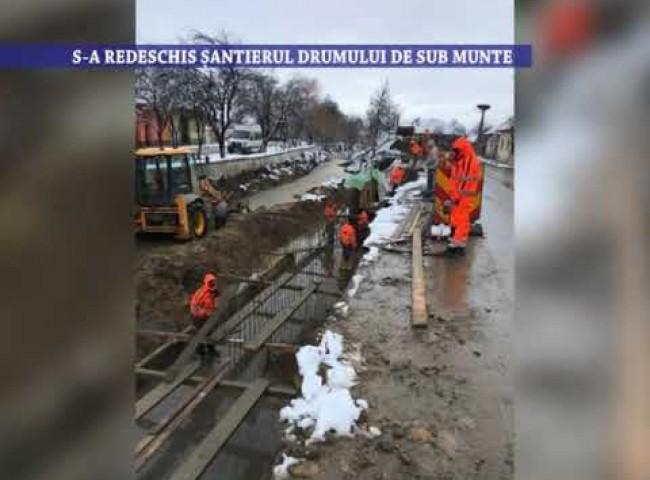 S-a redeschis santierul drumului de sub munte – 22 ianuarie 2021