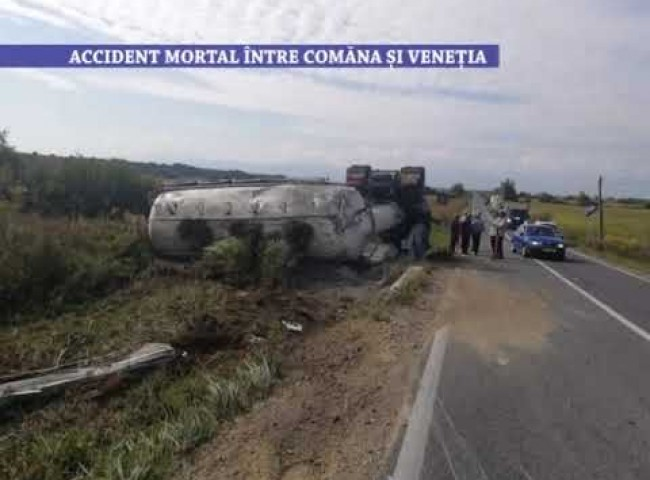 Accident mortal intre Comana si Venetia – 14 septembrie 2021