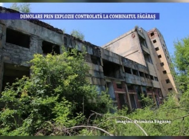 Demolare prin explozie controlata la Combinatul Fagaras – 15 septembrie 2021