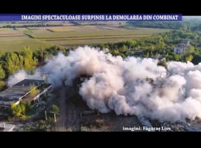 Imagini spectaculoase surprinse la demolarea din Combinat – 16 septembrie 2021