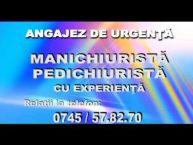 Angajam manichiurista – pedichiurista / 14 iulie 2016