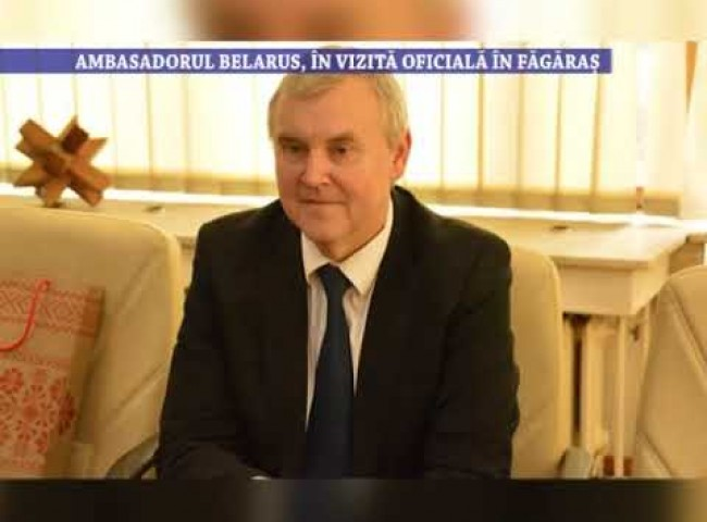 Ambasadorul Belarus, in vizita oficiala in Fagaras – 12 mai 2021